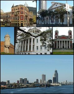 montage of historical sites in Mobile, AL