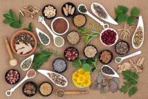 Healing herb and spice selection used in holisitc medicine